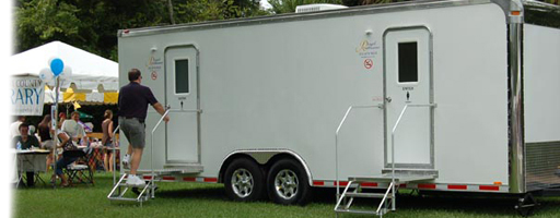 Festival using upscale mobile restroom trailer, shower trailer and ADA trailer