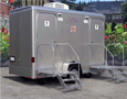 Two-stall Platinum Exterior Restroom Trailer