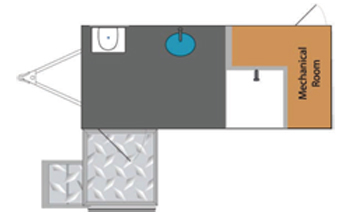 ADA Single-Stall Shower Unit Layout