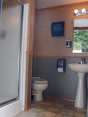 Two-Stall Shower Unit