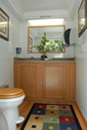 Platinum Womens Stall Restroom Trailer Interior